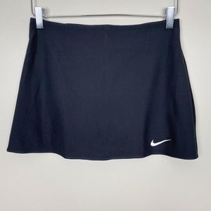 NIKE Power Spin Tennis Skirt S Black Dri Fit Skort